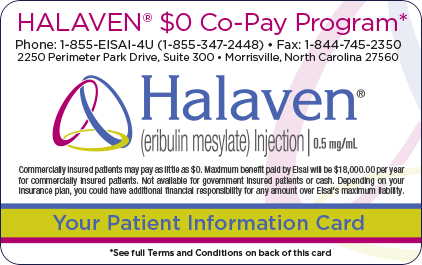 HALAVEN $0 co-pay program