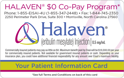HALAVEN® $0 Co-Pay Program