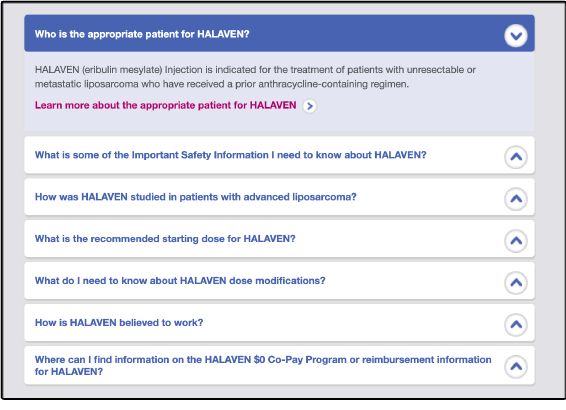 Halaven patient selection tool